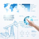 Oil pump illustration. Royalty Free Stock Photos