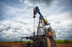 Oil pump. Oil industry equipment Royalty Free Stock Photo
