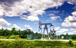 Oil pump. Oil industry equipment Royalty Free Stock Photography