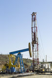 Oil pump rig Royalty Free Stock Images
