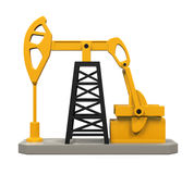 Oil Pump Isolated Royalty Free Stock Photos