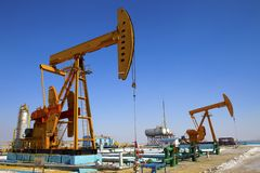 Oil Pump Jack Royalty Free Stock Image