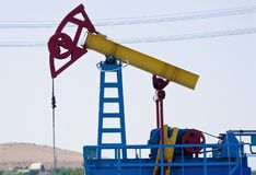 Oil pump jack close-up Stock Image