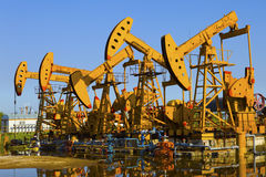 Oil Pump Jack Royalty Free Stock Photos