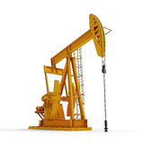 Oil pump. Jack, isolated on white background Royalty Free Stock Photo