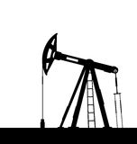 Oil pump jack for petroleum isolated on white background Stock Image