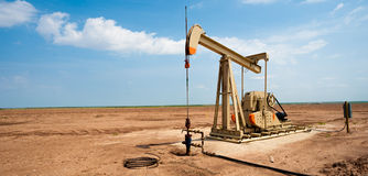 Oil pump jack on the plains of west Texas Royalty Free Stock Photo
