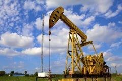 Oil pump jack Royalty Free Stock Photos