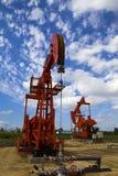 Oil pump jack Stock Image