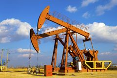 Oil Pump Jack Royalty Free Stock Images
