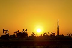 Oil Pump Jack Royalty Free Stock Photography