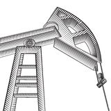 Oil pump jack. Royalty Free Stock Photo