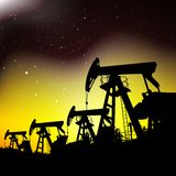 Oil pump jack. Royalty Free Stock Photos