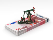 Oil pump-jack stands Stock Photos