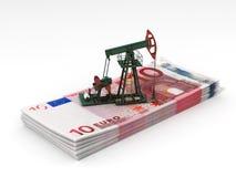 Oil pump-jack stands Stock Photos