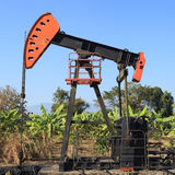 Oil Pump Jack (Sucker Rod Beam) Stock Photo