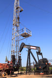 Oil Pump Jack (Sucker Rod Beam) and Workover Royalty Free Stock Image