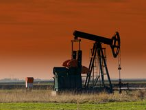 Oil Pump jack,sunset