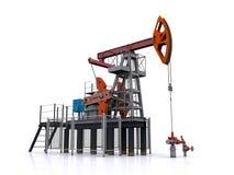 Oil pump-jack on a white background vector illustration