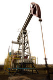 Oil pump jack. Wide view of oil pump jack royalty free stock photos