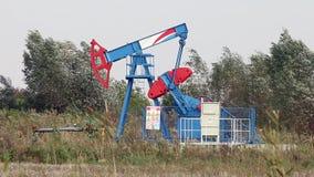 Oil pump jack stock video