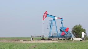 Oil pump jack work stock video