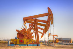 Oil pump jacks Stock Image