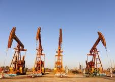 Oil pump jacks (HDR) Stock Photo