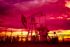 Oil pump. Royalty Free Stock Image