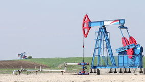 Oil pump jacks stock footage