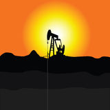 Oil pump jakc illustration Royalty Free Stock Images