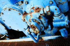 Oil pump motor Stock Photo