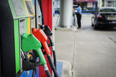 Free Oil Pump Nozzles Gas Stations Stock Photos - 96362913