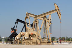 Oil pump. Oil industry equipment. Royalty Free Stock Photography