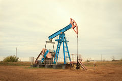 Oil pump. Oil industry equipment. Royalty Free Stock Photos