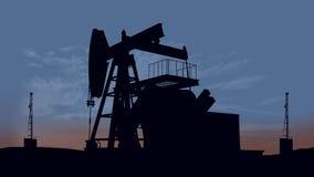 Oil pump oil rig energy vector illustration