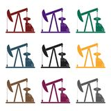 Oil pump.Oil single icon in black style vector symbol stock illustration web. Royalty Free Stock Image