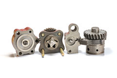 Oil pump. Photo some kinds of the oil pump for the engine Stock Images