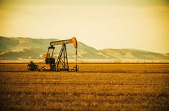 Oil Pump on Prairie Stock Images