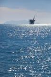Oil Pump. In the Santa Barbara Channel, California Stock Image