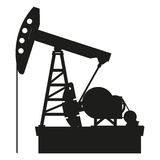 Oil pump. Silhouette of oil pump isolated on a white background, vector Royalty Free Stock Photography