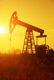 Oil Pump Silhoutte Stock Photos