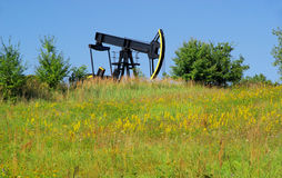 Oil pump. Traditionel petroleum production Royalty Free Stock Image