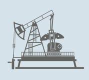 Oil pump. Vector black icon on white background Stock Photo