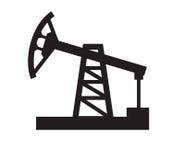 Oil pump. Vector black illustration of Oil pump on white Stock Images