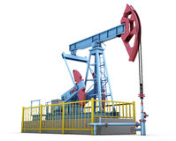 Oil pump. On white background. 3d illustration Royalty Free Stock Photo