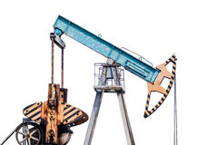 Oil pump on white background. Isolation. Stock Photos