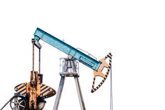Oil pump on white background. Isolation. Stock Photo
