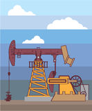 Oil Pumping Rig Stock Images