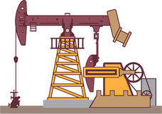 Oil Pumping Rig Stock Photo